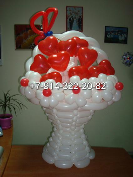 Подарок из шариков шдм
